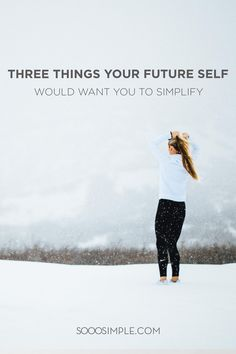 Three things your future self would want you to simplify this year. Remember, you don't have to feel overwhelmed when it comes to simple living. Start small first. Minimalist Lifestyle, Minimalist Living, Slow Living, Mindful Living, Get Your Life, Life Happens, Feeling Overwhelmed, 3 Things, Want You