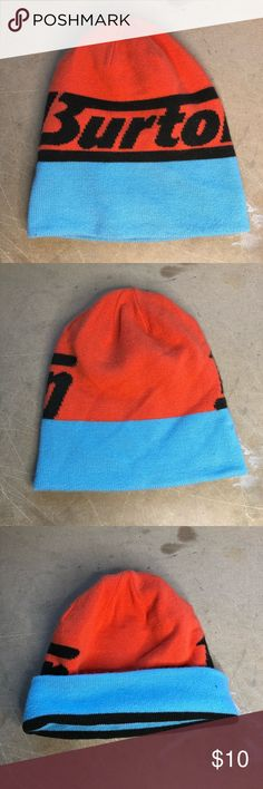 509585b72b1 Burton Snowboarding Beanie Orange Blue U5 In great shape. Price is firm.  Burton Accessories