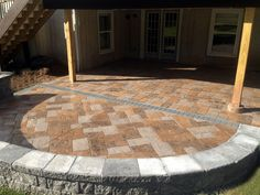 hand stained multi color stamped concrete patio and pavers retaining wall yardley pa