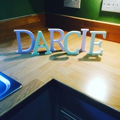 Beautiful name painted freestanding letters