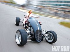 In this feature article HOT ROD takes a look at the Brimstone Quadracycle, an outlandish hot rod quad that is powered by a 300hp small-block Chevy engine - Hot Rod Magazine