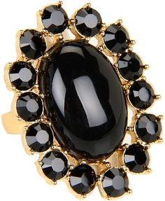 Kate Spade New York Paisley Park Ring Black Jewelry Kate Spade