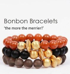 Wear our Bonbon stacking bracelet on its own or stack them, more the merrier! www.victoriousbee.co.uk