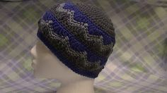 Wave Beanie by The Crochet Zombie. Free pattern!
