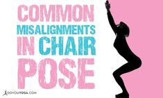 Utkatasana is a seemingly simple yet very challenging pose to do and hold. Make sure you're doing it right & avoid these common misalignments in Chair pose. Anxiety Relief, Stress And Anxiety, Yoga Flow, Yoga Meditation, Become A Yoga Instructor, Chair Pose, Yoga Tips, Yoga Routine, Yoga Benefits