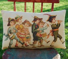 Primitive Aged July 4th Victorian Children Drum by redroosterbab