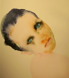 Saatchi Online Artist: Holly Hudson; Watercolor, 2012, Painting Blue Eyed Girl