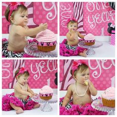 Minnie mouse cake smash