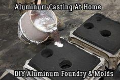 Aluminum Casting At Home – DIY Aluminum Foundry & Molds