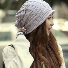 $6.81 Chic Knitting Geometric Pattern Beanie Hat For Women