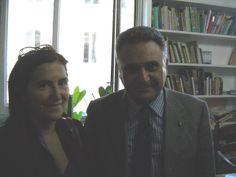 Il Consigliere Diplomatico Prof. Cav. Raimondo VILLANO con l'Addetta Culturale dell'Ambasciata Argentina in Italia Dr.ssa Ana Emilia SARRABAYROUSE (Roma, Ambasciata Argentina, Casa Argentina, Ufficio  Culturale, aprile 2013).