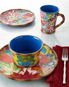 16-Piece Hand-Painted Dinnerware Service by Tracy Porter for Poetic Wanderlust at Neiman Marcus.