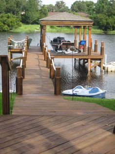 Orlando's Unique Solution for Deck and Dock Construction Demands. Specializing in Commercial and Residential Outdoor Construction Projects. Lake Dock, Boat Dock, Docks Lake, Building A Dock, Cabin Decks, Lake Landscaping, Dock House, Farm Pond, Lakeside Living