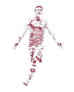 Mesut Ozil Arsenal 1 Art Print by Joe Hamilton. All prints are professionally printed, packaged, and shipped within 3 - 4 business days. Ozil Mesut, Mesut Ozil Arsenal, Arsenal Fc, Lafayette Hotel, Joe Hamilton, Messi And Ronaldo, Thing 1, Football Art, Poster Prints