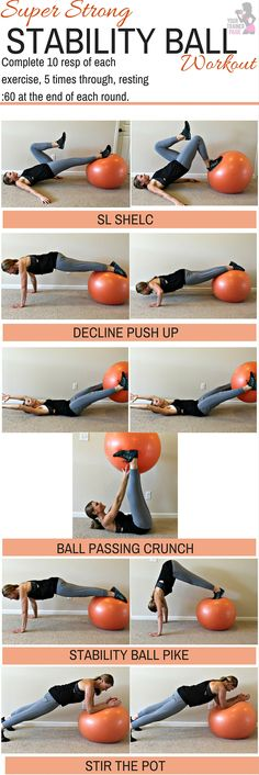 home workout: stability ball workout