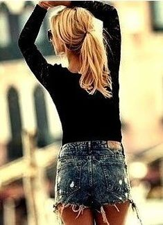 jeans skirt with sweater   Beautiful Womens Fashion