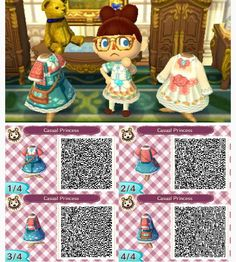 Casual Princess dress - Animal Crossing New Leaf QR Code
