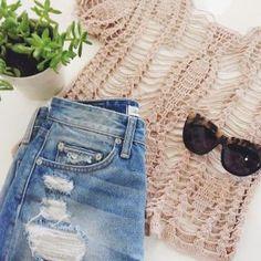 Tularosa Darcy Crochet Top in Natural | REVOLVE
