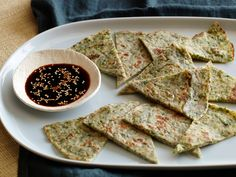 Scallion pancakes! Some recommendations: use at least twice as much water as given in the directions. 3/4 cups is absolutely not enough. And be generous with the salt. A pinch is not enough. Otherwise, excellent!