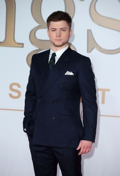 Taron Egerton at the premiere (sadly not wearing the glasses)