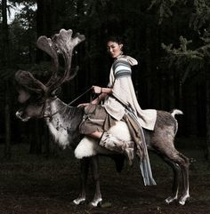 Women Riding a Reindeer, Mongolia on We Heart It Mongolia, Potnia Theron, Foto Fun, Tibet, People Around The World, World Cultures, Oeuvre D'art, Character Inspiration, Cute Animals