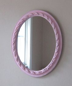 Pink Mirror  Cottage chic  Vintage  Shabby and by SavannahsCottage, $35.00