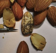 Intricate Paintings Made On Incredibly Tiny Surfaces Of Chocolate, Nuts, Seeds - DesignTAXI.com