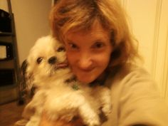 this is me and sparky(ms.Irene) dog