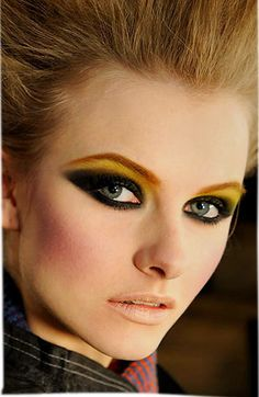 never thought yellow eyeshadow could look so awesome.