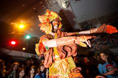 Earth Celebrations--Direct Fashion Show at the Museum of Reclaimed Urban Space. LES, NYC. Roots costume. Photo by Brian D. Caron.