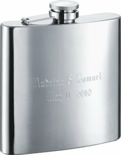 """The Debonaire"" Classic 6-oz. Groomsmen Flask - Free Engraving . $16.95"