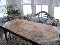 From original Taylor & Boggs Foundry, est 1862, Cleveland, a work surface now a dining table. The foundry site is being revitalized into a sustainable farm in the city. http://www.thefoundryproject.com/