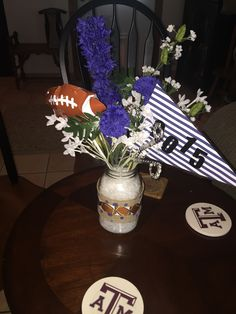 Dallas Cowboys center pieces for baby shower