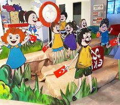 Kids Background, Board Decoration, International Day, School Decorations, Paper Cutting, Disney Characters, Presents, Projects To Try