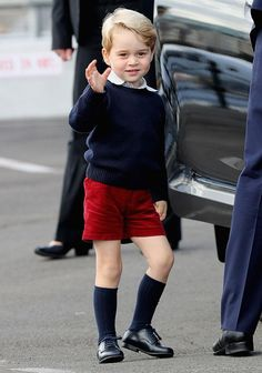The adorable royals charmed the waiting crowd as they boarded their plane.