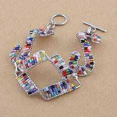 Craft Fashion Copper Glass tube Bracelets