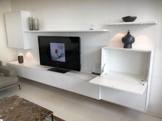 Exclusive modern contemporary Italian furniture store in Newmarket, Auckland - products are designed and made in Italy. All our furniture comes with a 20 year warranty! Italian Furniture Stores, Built In Desk, Wall Units, Auckland, Modern Contemporary, Shelving, The Unit, Home Decor, Shelves