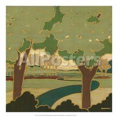 Arts and Crafts Landscape I Landscapes Art Print - 41 x 41 cm