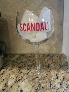 Scandal wine glass. On Etsy.com