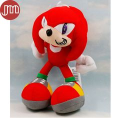 """Find More Movies & TV Information about New Kawaii Sonic Knuckles the Echidna Red 7"""" Anime Juguetes Peluche Plush Baby Dolls Kids Toys Brinquedos with Sucker Tracking,High Quality toy lobster,China doll bank Suppliers, Cheap doll toy from M&J Toys Global Trading Co.,Ltd on Aliexpress.com"""