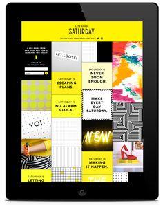 Kate Spade Saturday Launch Campaign iPad App #UI | Grid based user interface design