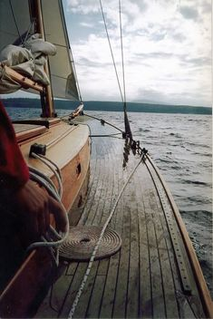 this was probably one of the nicest sailing experiences ever (nicest wooden boats). The boat was a beautiful wooden sail boat (ketch) made in Port Townsend WA. The Ocean, Sail Away, Set Sail, Wooden Boats, Wooden Sailboat, Wooden Decks, Tall Ships, Belle Photo, The Great Outdoors