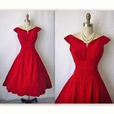 """Red Dress - """"Mad Men"""" Style. If I was ever to really wear a dress....."""