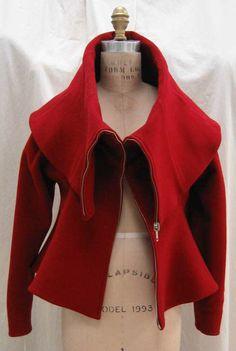 Coat Claude Montana (French) ca. 1989 wool