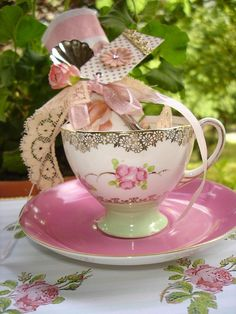 invitation tea cup