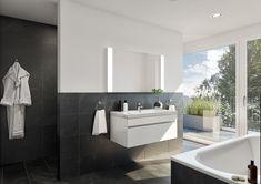 STOMEO Visualisierungen Bathroom Lighting, Mirror, Furniture, Home Decor, Architecture Visualization, Real Estates, Floor Layout, Room Interior, Bathing