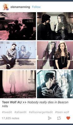 Teen Wolf; Scott McCall; Stiles Stilinski; Allison Argent; Jackson Whittemore; Lydia Martin; AU