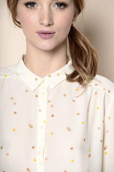 chemise Gabriel confetti 100% soie - chemise - Des Petits Hauts