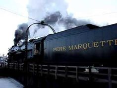 Pere Marquette 1225 Steam locomotive on the Turntable