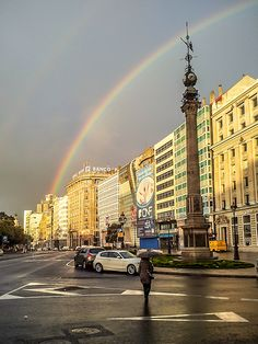 Arco Iris sobre Coruña Places To Travel, Places To See, Madrid, Cities, Over The Rainbow, Wonders Of The World, Beautiful Places, Scenery, Around The Worlds